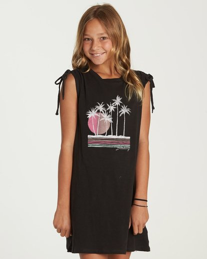 0 Coastal Fun Dress Black GD01UBCO Billabong