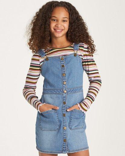 0 Girls' Coast To Coast Dress Blue GD01WBCO Billabong