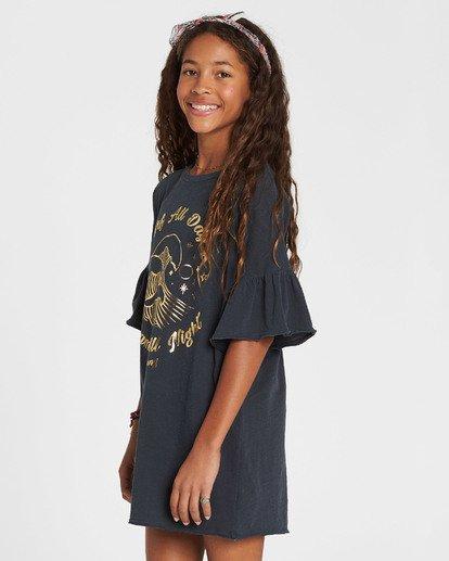 1 Girls' Wild Eyes Knit Dress Black GD02QBWI Billabong