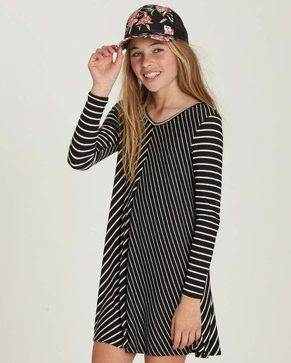 1 Girls' Just Because Dress Black GD03MJUS Billabong