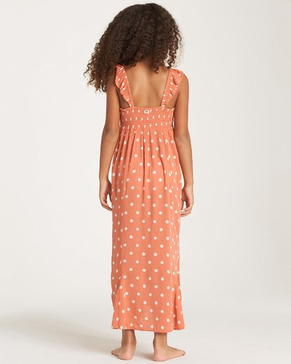 2 Girls' Love Tied Dress Orange GD03WBLO Billabong