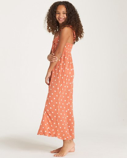 1 Girls' Love Tied Dress Orange GD03WBLO Billabong