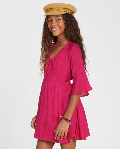 1 Girls' Divine Child Woven Dress Pink GD06SBDI Billabong