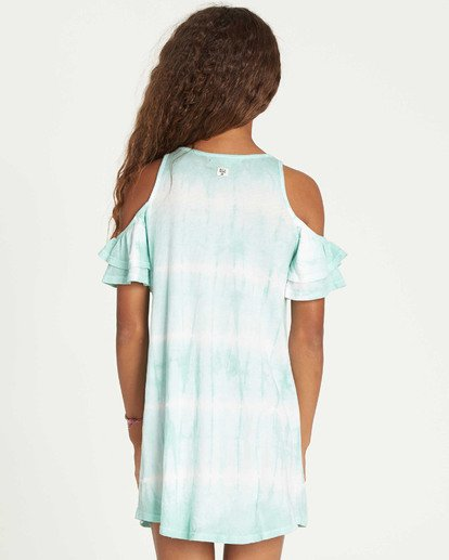 2 Girls' Chasing Waves Tie-Dye Dress White GD06TBCH Billabong