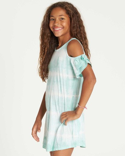 1 Girls' Chasing Waves Tie-Dye Dress White GD06TBCH Billabong