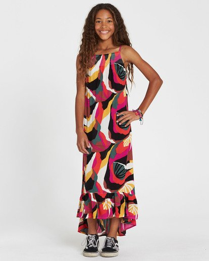 0 Girls' Maxed Out Printed Maxi Dress  GD08SBMA Billabong