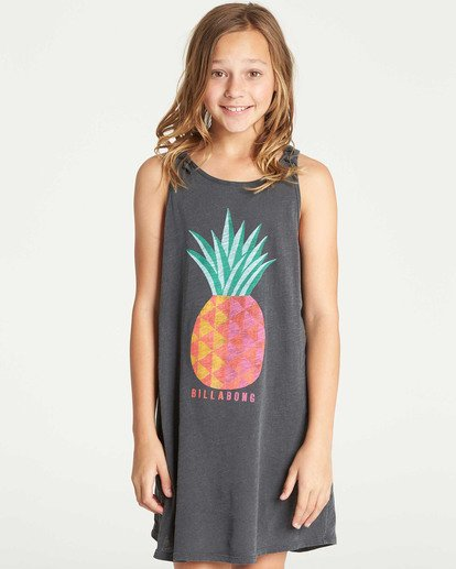 0 Girls' Beach Song Tie-Dye Dress Black GD08TBBE Billabong