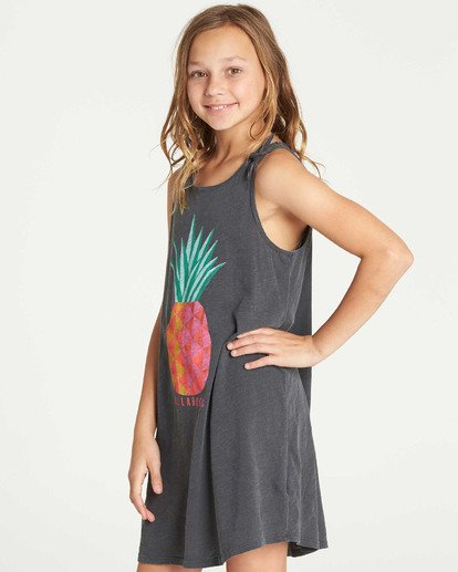 1 Girls' Beach Song Tie-Dye Dress Black GD08TBBE Billabong