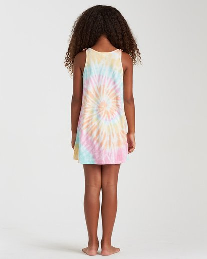 2 Girls' Beach Song Tie-Dye Dress Grey GD08TBBE Billabong