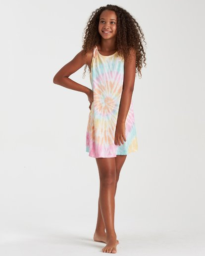 1 Girls' Beach Song Tie-Dye Dress Grey GD08TBBE Billabong