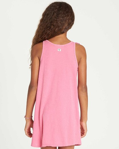 2 Girls' Beach Song Tie-Dye Dress Pink GD08TBBE Billabong