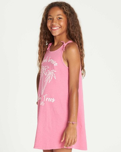 1 Girls' Beach Song Tie-Dye Dress Pink GD08TBBE Billabong