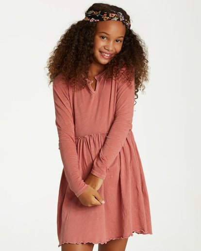 0 Girls' Somewhere Near Dress Brown GD08VBSO Billabong