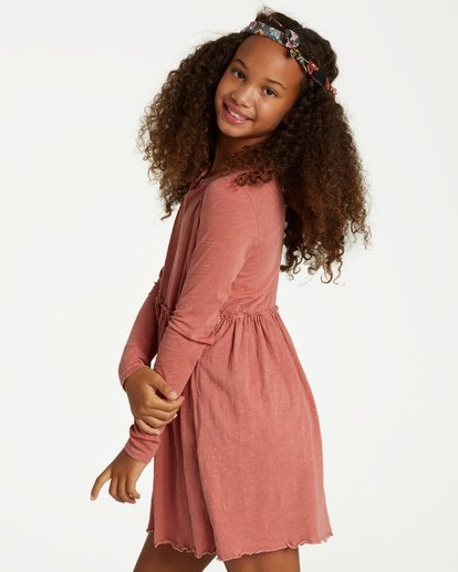 1 Girls' Somewhere Near Dress Brown GD08VBSO Billabong