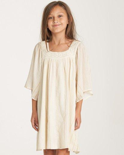 0 Girls' Feeling Sparkly Dress White GD08WBFE Billabong
