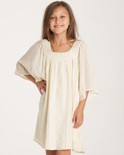 1 Girls' Feeling Sparkly Dress White GD08WBFE Billabong