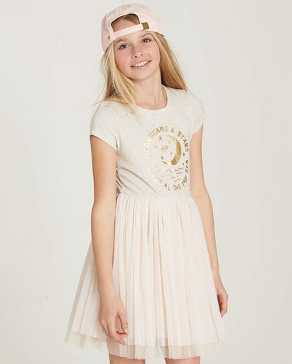 0 Girls' Sunkissed Nights Dress White GD09MSUN Billabong