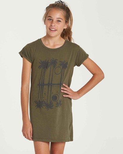 0 Girls' Last Quarter Tank Dress Green GD09QBLA Billabong