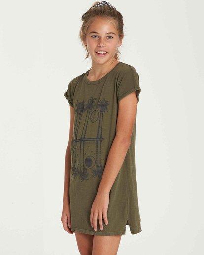 1 Girls' Last Quarter Tank Dress Green GD09QBLA Billabong