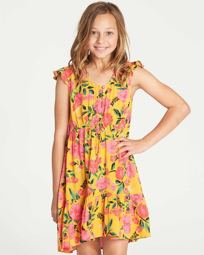 0 Girls' Sing It Dress Grey GD12TBSI Billabong