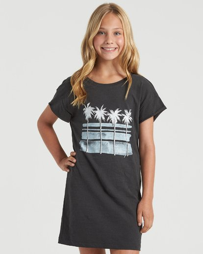 4 Girls' Free Fall Dress Black GD403BFR Billabong