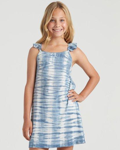 3 Girls' Surf Tides Dress Blue GD423BSU Billabong