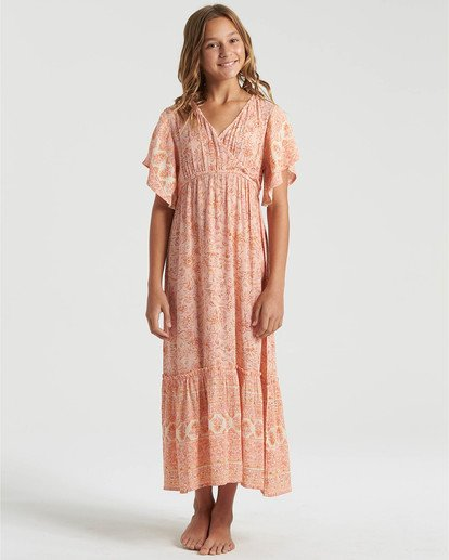 1 Girls' Sunday Fun Dress Multicolor GD483BSU Billabong