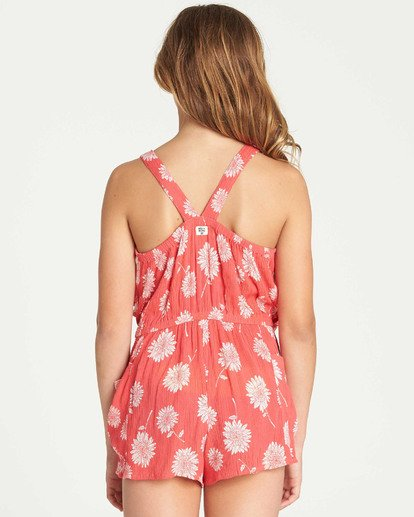 2 Girls' Wild Jumps Romper Red GN01TBWI Billabong