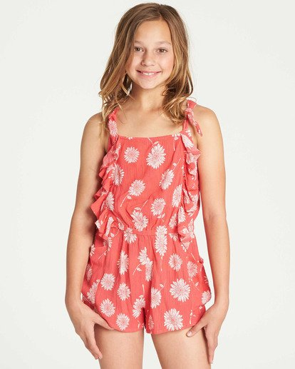 0 Girls' Wild Jumps Romper Red GN01TBWI Billabong