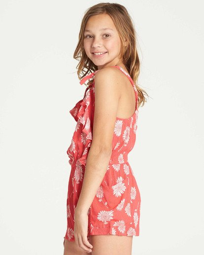 1 Girls' Wild Jumps Romper Red GN01TBWI Billabong