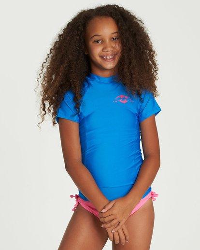 0 Girls' Surf Dayz Performance Short Sleeve Rashguard Blue GR01NBSD Billabong
