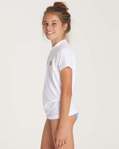 1 Girls' Surf Dayz Performance Short Sleeve Rashguard White GR01NBSD Billabong