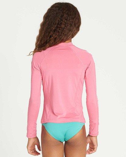 2 Girls' Surf Dayz Performance Long Sleeve Rashguard Pink GR53TBSD Billabong