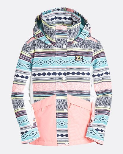 0 Girls' Kayla Outerwear Jacket Blue GSNJQKAY Billabong