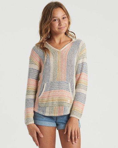 3 Girls' Baja Cove Sweater White GV013BBA Billabong