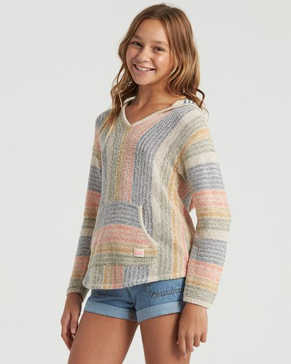 4 Girls' Baja Cove Sweater White GV013BBA Billabong