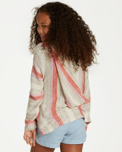 2 Girls' Baja Cove Sweater Brown GV01QBBA Billabong