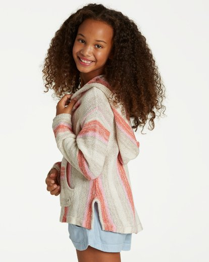 1 Girls' Baja Cove Sweater Brown GV01QBBA Billabong