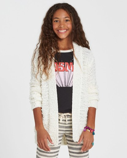 0 Girls' Lets Go Cardigan Sweater  GV01SBLE Billabong