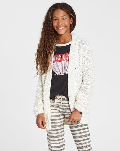 1 Girls' Lets Go Cardigan Sweater  GV01SBLE Billabong