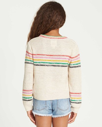 2 Girls' Sun Rays Sweater Beige GV02TBSU Billabong