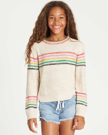 0 Girls' Sun Rays Sweater Beige GV02TBSU Billabong