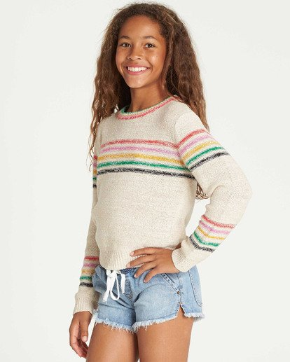 1 Girls' Sun Rays Sweater Beige GV02TBSU Billabong