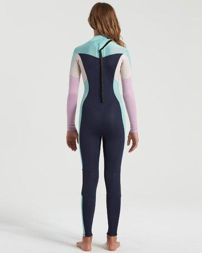 1 3/2 Girls Synergy Back Zip Wetsuit Blue GWFU3BB3 Billabong