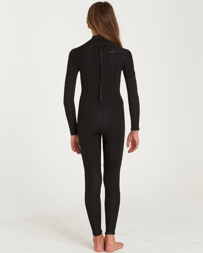 2 Girls' 4/3 Furnace Synergy Back Zip Fullsuit Black GWFUQBB4 Billabong