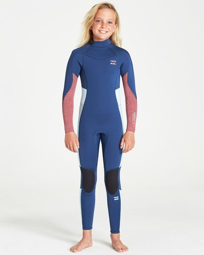 0 4/3 Synergy Back Zip Fullsuit Blue GWFUVBB4 Billabong