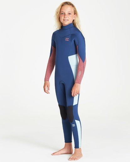 1 4/3 Synergy Back Zip Fullsuit Blue GWFUVBB4 Billabong
