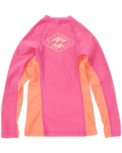 1 Girls' Surf Dayz Performance Fit Long Sleeve Rashguard  GWLYJSCL Billabong