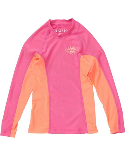 0 Girls' Surf Dayz Performance Fit Long Sleeve Rashguard  GWLYJSCL Billabong