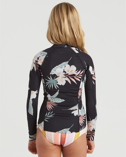 1 Girls' 1mm Peeky Wetsuit Jacket White GWSH3BSL Billabong